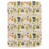 Personalized Woodland Creatures Blanket