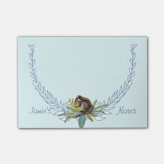 Personalized Woodland Creatures Squirrel Post-it® Notes