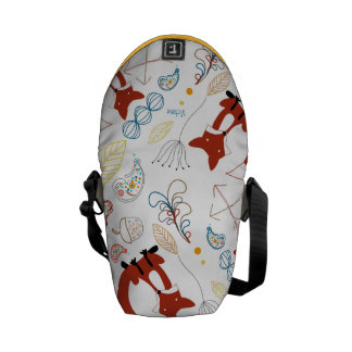Personalized Woodland Fox Woodland Acorn Leaf Courier Bag