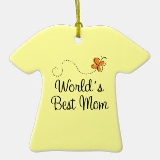 Personalized Worlds Best Mom Tshirt Ornament