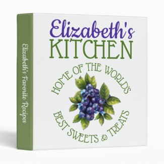 Personalized World's Best Sweets Recipe Binder