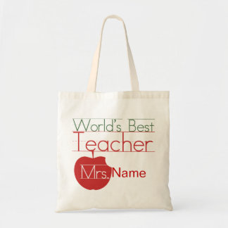 Personalized Worlds Best Teacher Budget Tote Bag