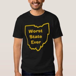personalized worst state ever tee shirt