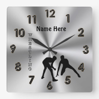 Personalized Wrestling Clocks with His NAME