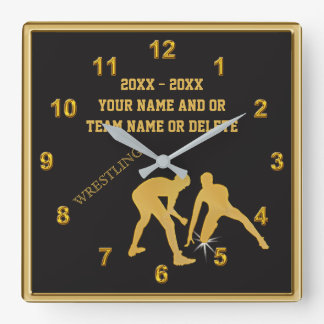 Personalized Wrestling Clocks Your TEXT and COLORS