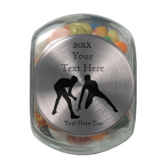Personalized Wrestling Gifts for Boys YOUR TEXT Glass Jar