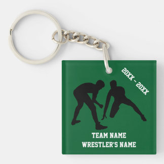 Personalized Wrestling Keychains Your COLORS, TEXT
