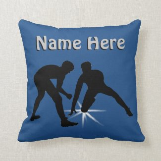 PERSONALIZED Wrestling Pillow Your TEXT and COLORS