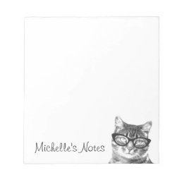 Personalized writing notepads for cat lover