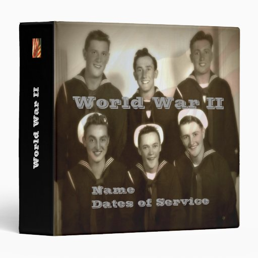 Personalized WWII Navy Veteran Photo Album Binder