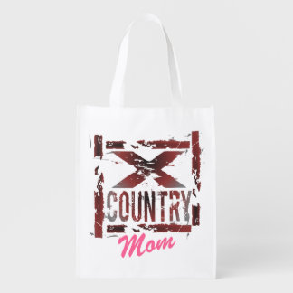 Personalized XC Cross Country Mom Reusable Grocery Bags