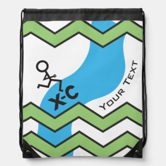 Personalized XC Cross Country Runner Drawstring Backpack