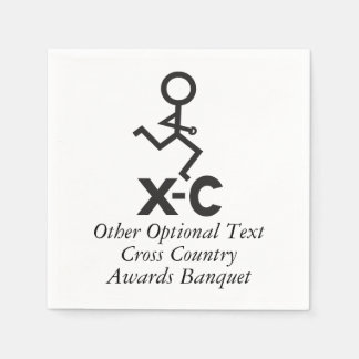 Personalized XC Cross Country Runner Standard Cocktail Napkin