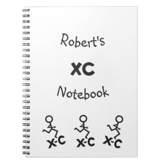 Personalized XC Cross Country Running Spiral Notebook