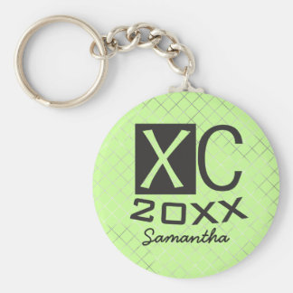 Personalized XC Keychain Cross Country Running Keychains