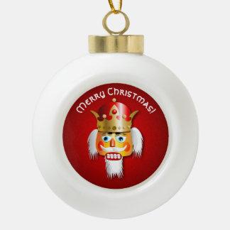 Personalized Xmas Nutcracker King Cartoon Ceramic Ball Christmas Ornament