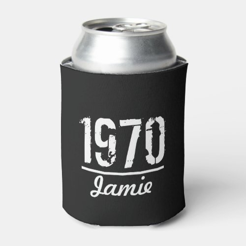 Personalized Year and Name Born in Birthday Year Can Cooler
