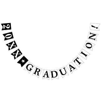 PERSONALIZED YEAR GRADUATION BUNTING FLAGS