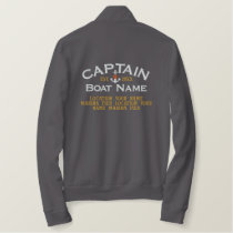 Personalized YEAR Names for Captain Star Anchor Embroidered Jacket