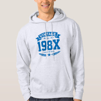 Personalized Year Vintage 1980's Birthday Hoodie
