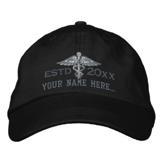 Personalized Year Your Text Medical Caduceus Cap
