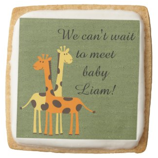 Personalized Yellow and Orange Giraffe Baby Shower