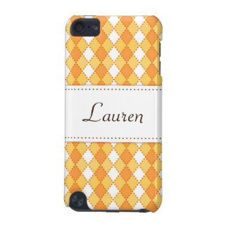 Personalized yellow argyles iPod touch case
