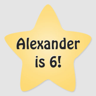 Personalized Yellow Birthday Favor Star Star Stickers