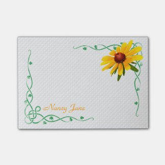 Personalized - Yellow Black-Eyed Susan Photo Post-it® Notes
