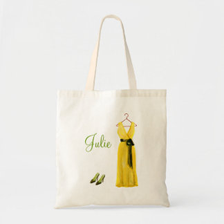 Personalized Yellow Bridesmaid Tote