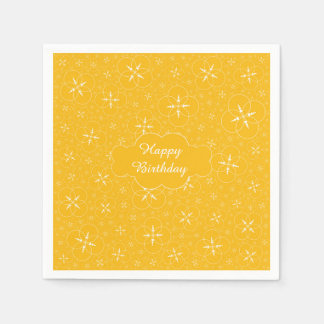 Personalized Yellow Crop Circle Napkin