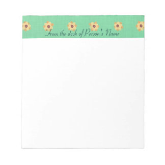 Personalized Yellow Daisy Border Notepads