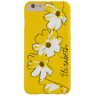 Personalized Yellow Daisy Chain Barely There iPhone 6 Plus Case