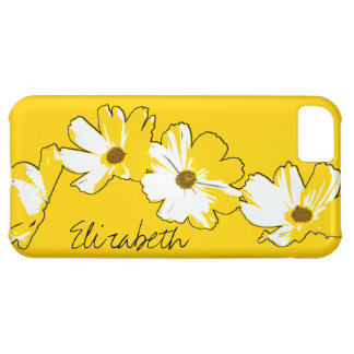 Personalized Yellow Daisy Chain Case For iPhone 5C