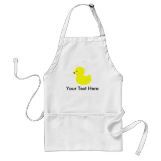 Personalized Yellow Ducky Adult Apron