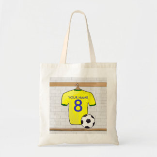 Personalized Yellow Green Football Soccer Jersey Bag