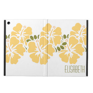 PERSONALIZED YELLOW HIBISCUS CASE FOR iPad AIR