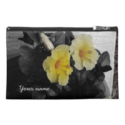 Personalized Yellow Hibiscus selective color photo Travel Accessory Bag