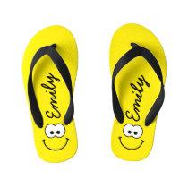 Personalized Yellow Kid's Flip Flops