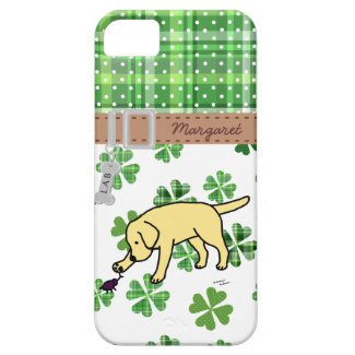 Personalized Yellow Lab Friendly Cartoon iPhone 5 Cover
