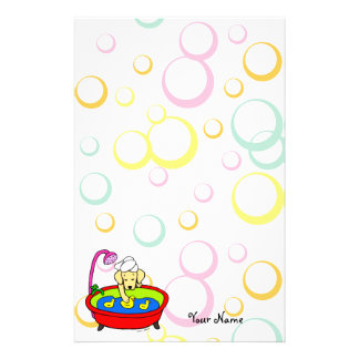 Personalized Yellow Lab Rubber Ducks Cartoon Stationery