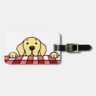Personalized Yellow Lab watching you Kitchen Bag Tag