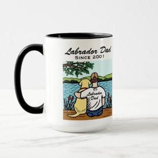 Personalized Yellow Labrador and Dad Mug