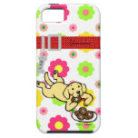 Personalized Yellow Labrador and Doughnuts iPhone 5 Cases