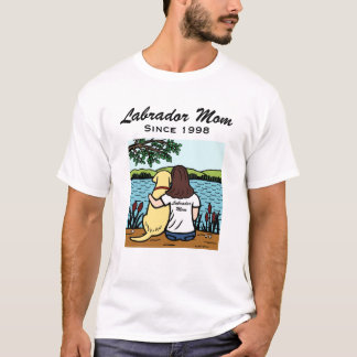 Personalized Yellow Labrador and Mom Long T-Shirt