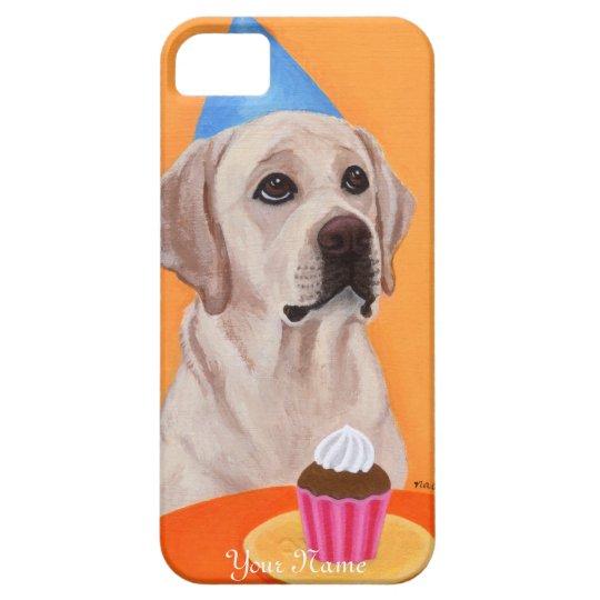 Personalized Yellow Labrador Birthday Cupcake iPhone SE/5/5s Case