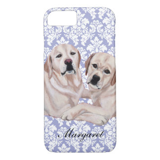 Personalized Yellow Labrador Duo iPhone 8/7 Case
