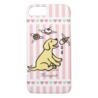 Personalized Yellow Labrador Ice Cream Dream iPhone 7 Case