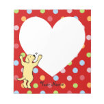 Personalized Yellow Labrador Puppy Hug Memo Note Pads