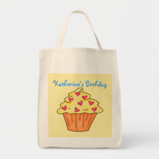 Personalized Yellow & Orange Cupcake Birthday Bags